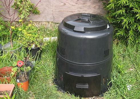 photo of the Earth Machine compost bin