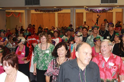 Senior Citizens from around Kauai enjoy the annual senior valentines party