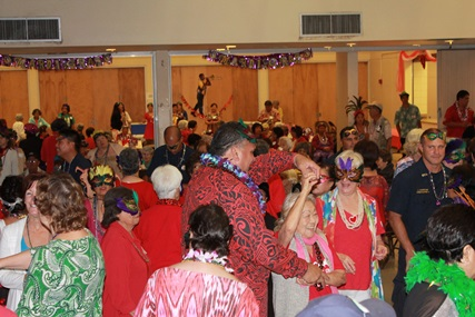 Senior Citizen dance with Mayor Bernard Carvalho Jr. and fire fighters at the 2014 Valentines Party