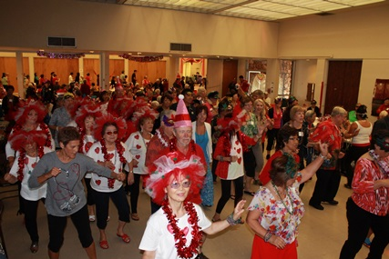 Senior dancing at the 2014 Valentines Party