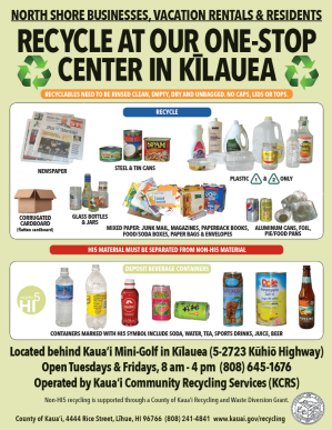 screenshot of Kilauea Recycling Program flyer