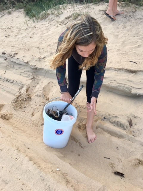 Beach clean up by Girl Scout Troop 775 photo 7