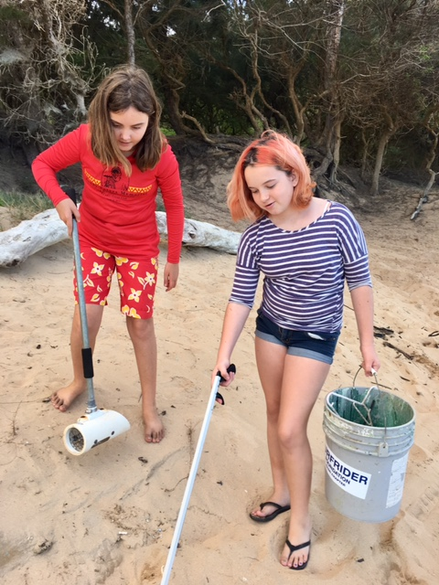 Beach clean up by Girl Scout Troop 775 photo 5