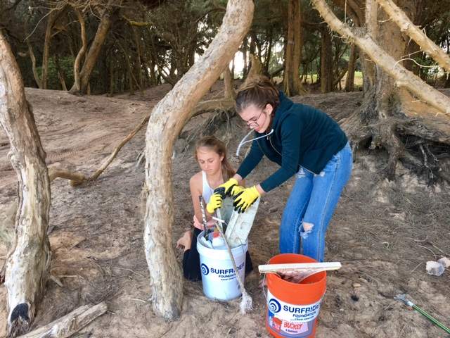Beach clean up by Girl Scout Troop 775 photo 9