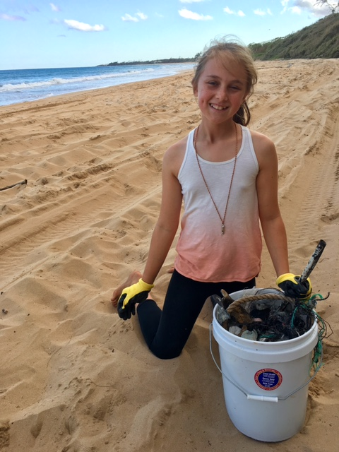 Beach clean up by Girl Scout Troop 775 photo 3