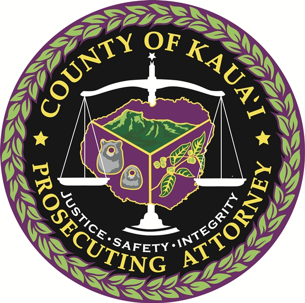 County of Kauai Prosecuting Attorney - Justice - Safety - Integrity (seal)